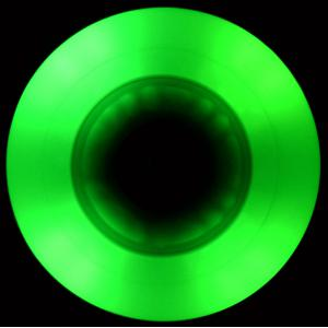 Green LED Wheel 90A in the dark