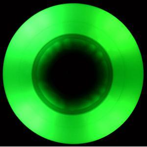 Green LED Wheel 90A in the dark