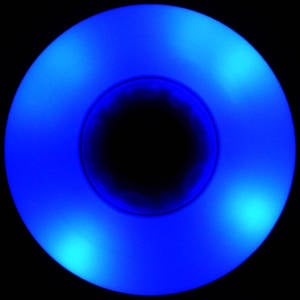 Blue LED Wheels 88A in the dark