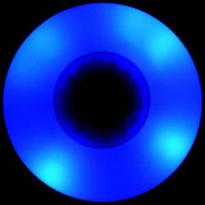 Blue LED Wheels 88A in the dark