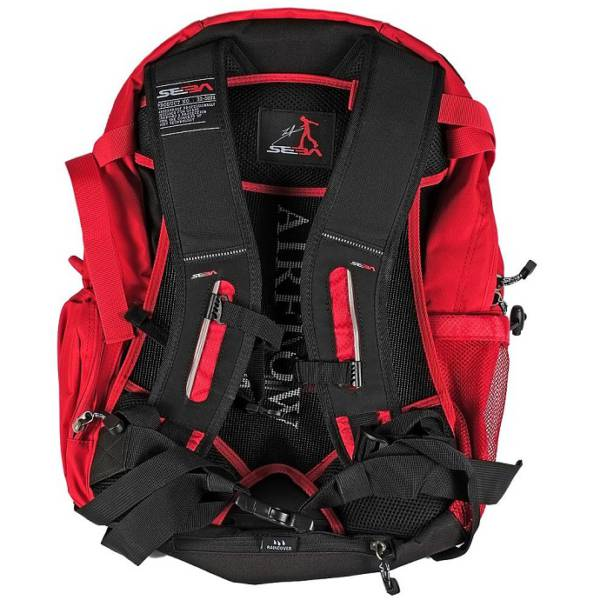 Seba Large Backpack Red back view