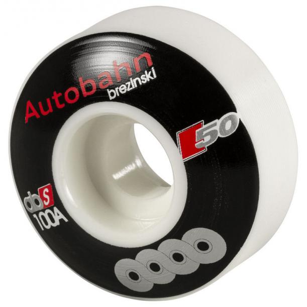 Autobahn Brezinski Union Skateboard Wheels 50mm White (4 pack)