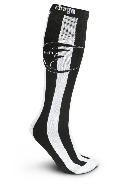 Chaya Tube Socks Black and White