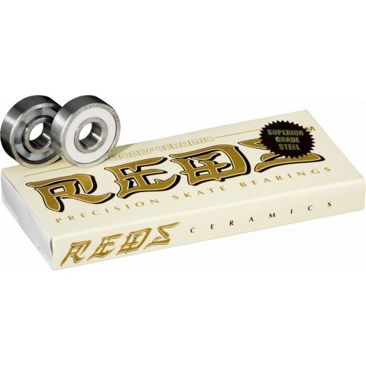 BONES Ceramic Super Reds Skateboard 608 Bearings (8 pack)