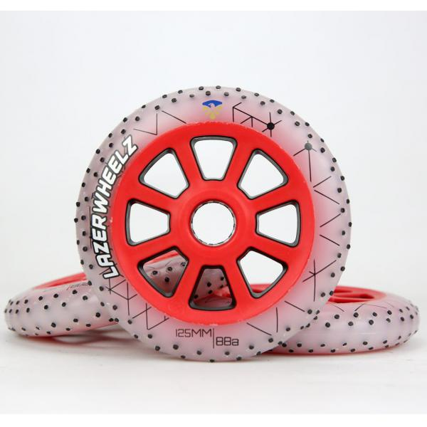Flying Eagle LAZERWHEELZ 125mm 88A Red LED & Sparkling
