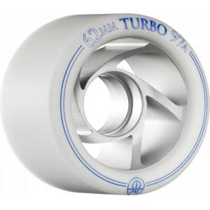 RollerBones Turbo Wheel Clear Aluminum Hub 62mm 97a