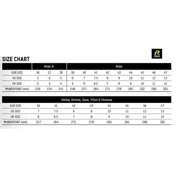 Reign Hockey Sizing Chart